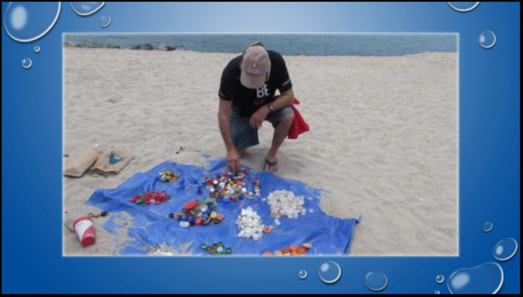 Bottle caps and lids are found on most beach cleanup sorts.